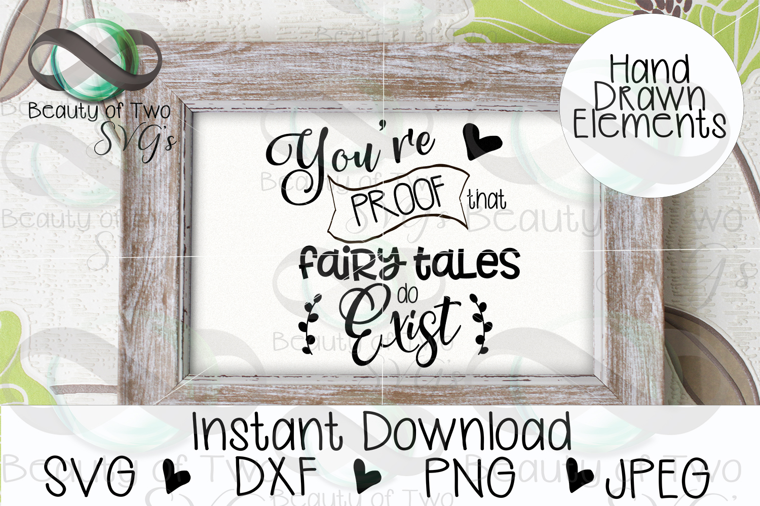 Love svg, You're proof fairytales exist svg, soulmate svg example image 3
