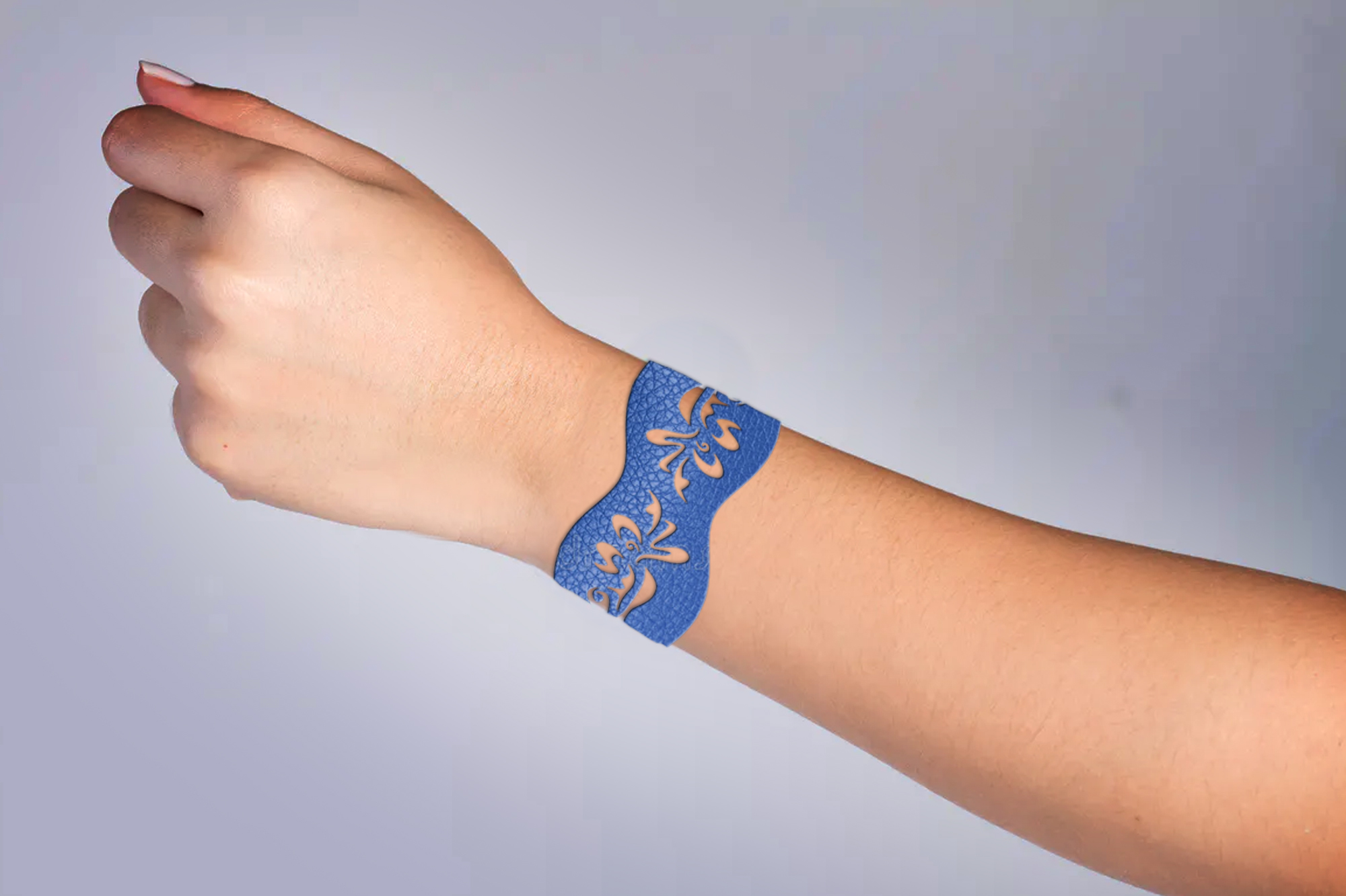 5 Leather Cuff Bracelet svg Jewelry template example image 6
