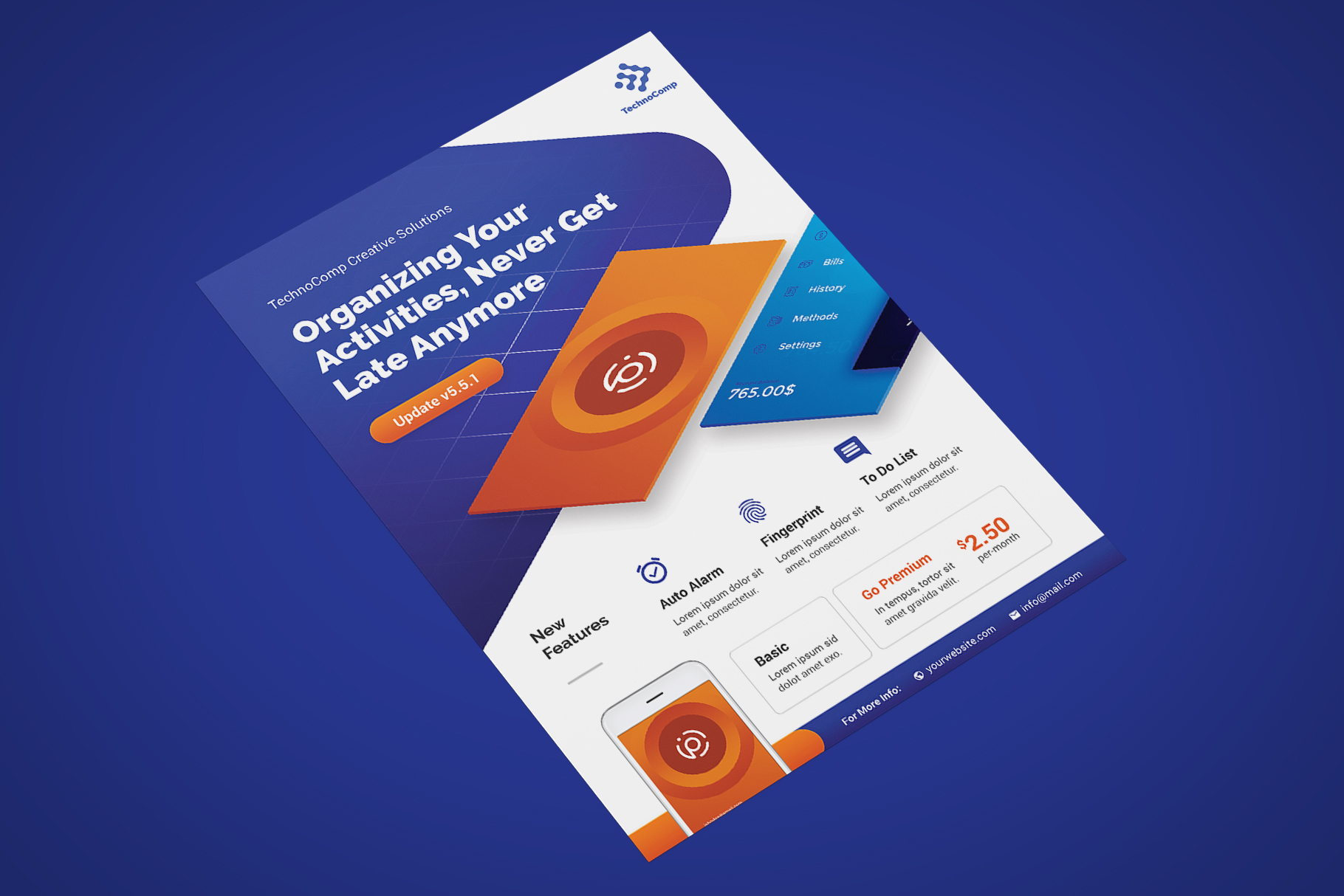 Mobile App Promotion Flyer Template example image 2