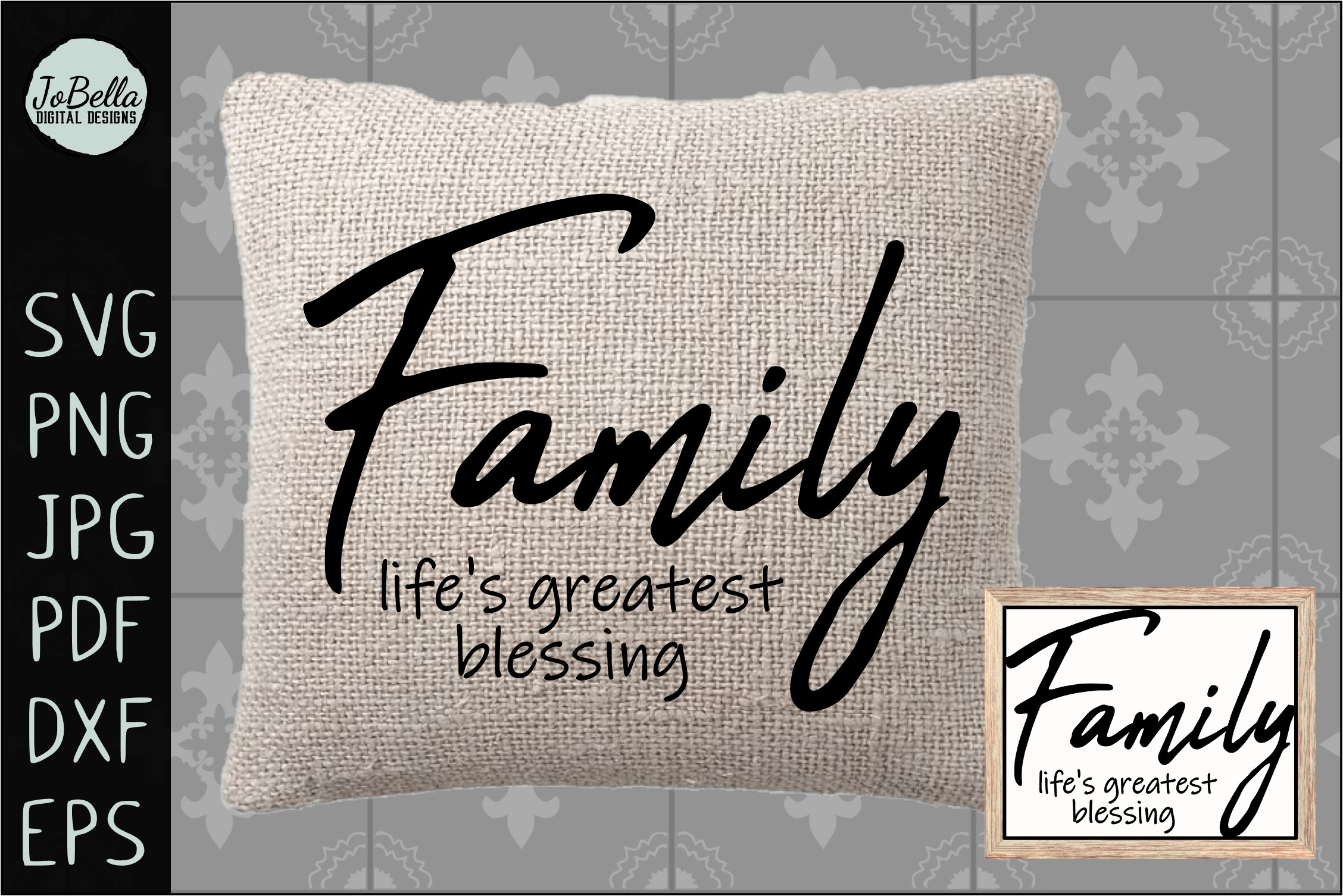Family Life's Greatest Blessing SVG, Sublimation PNG & Print example image 2