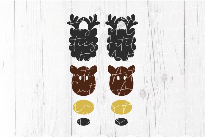 Deer earrings template SVG, DIY earrings template example image 2