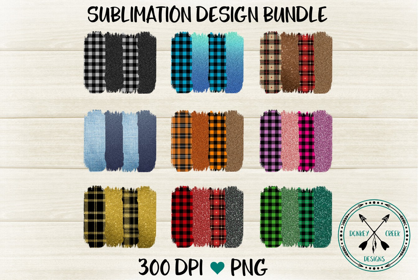 Plaid Brush Strokes for Sublimation Designs example image 1