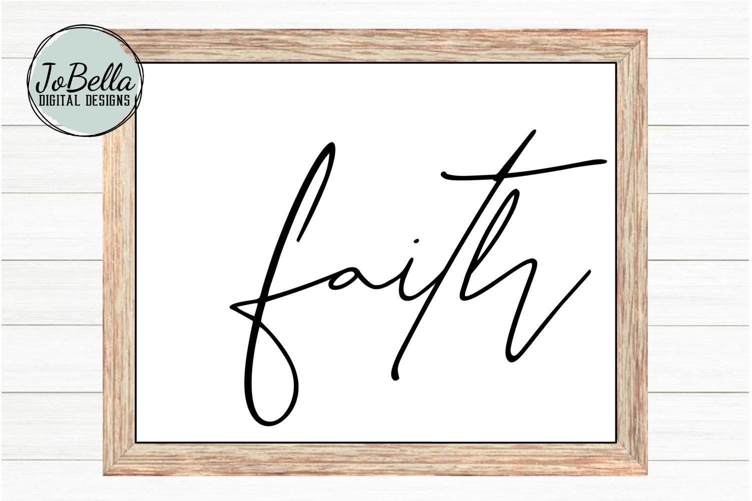 Faith SVG and Printable - Spiritual Motivational Design example image 2