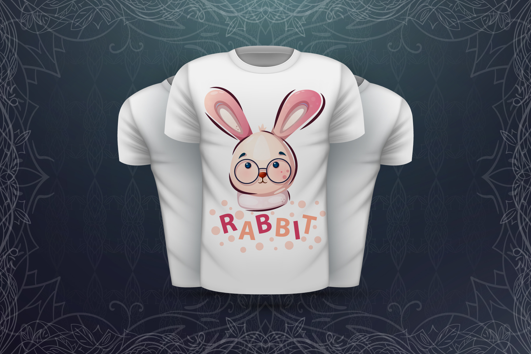 Set cute animal - for print t-shirt example image 6