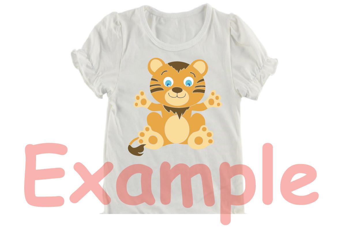 Tiger Badgers Digital Safari Cute Baby Animals -748S example image 3