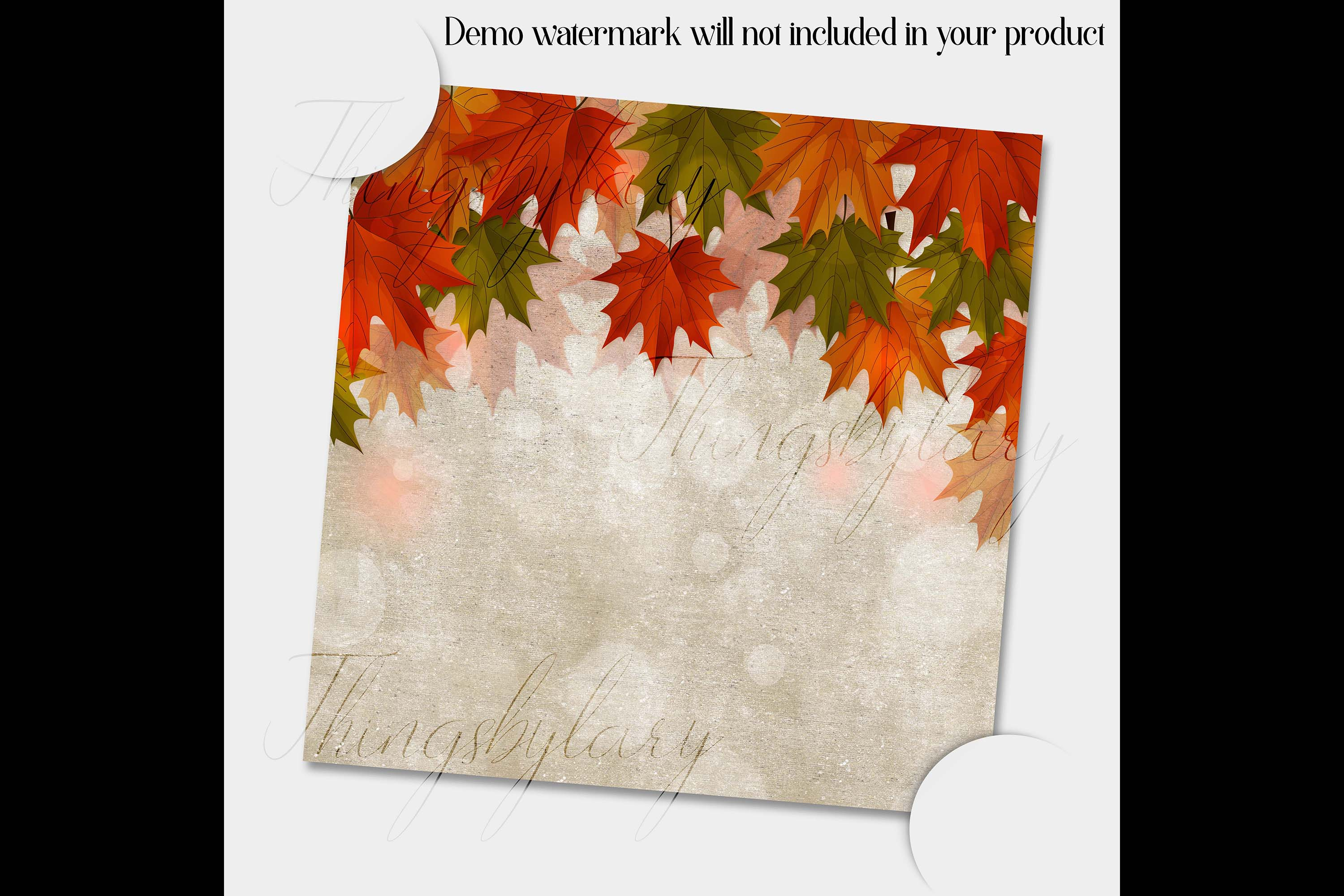 18 Autumn Leaves Digital Papers, thanksgiving fall wedding example image 4