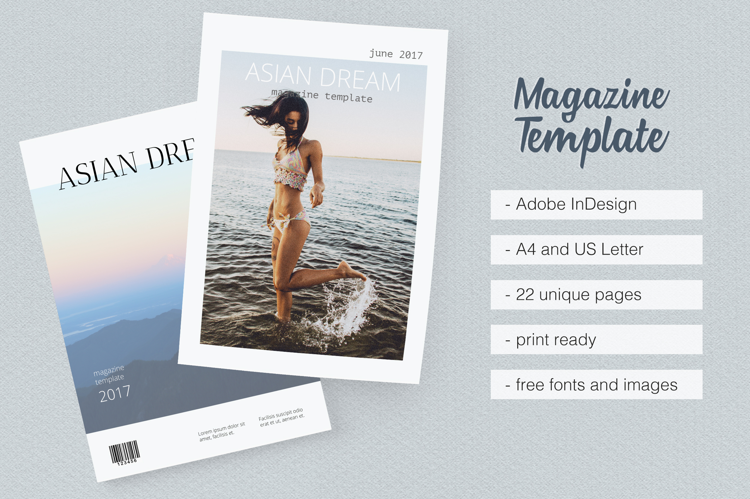 Asian Dream Magazine Template example image 1