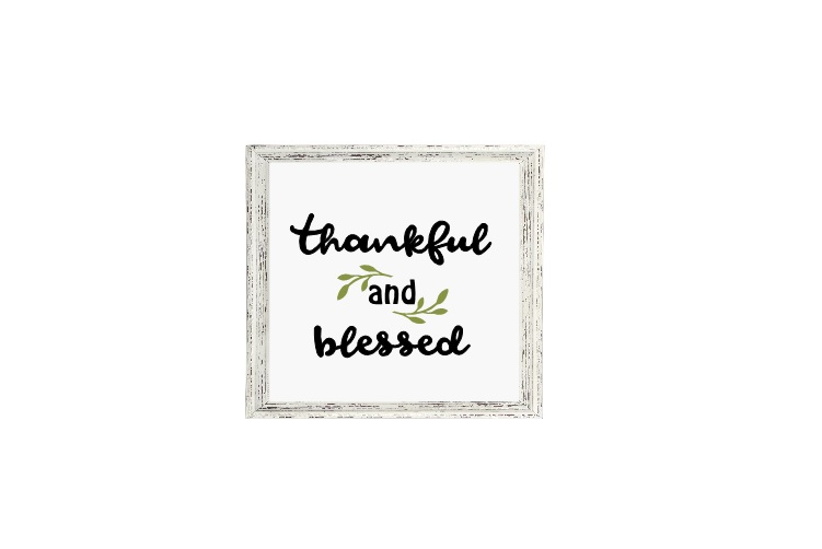 Thankful Svg, Thankful And Blessed Svg, Thanksgiving Svg example image 2
