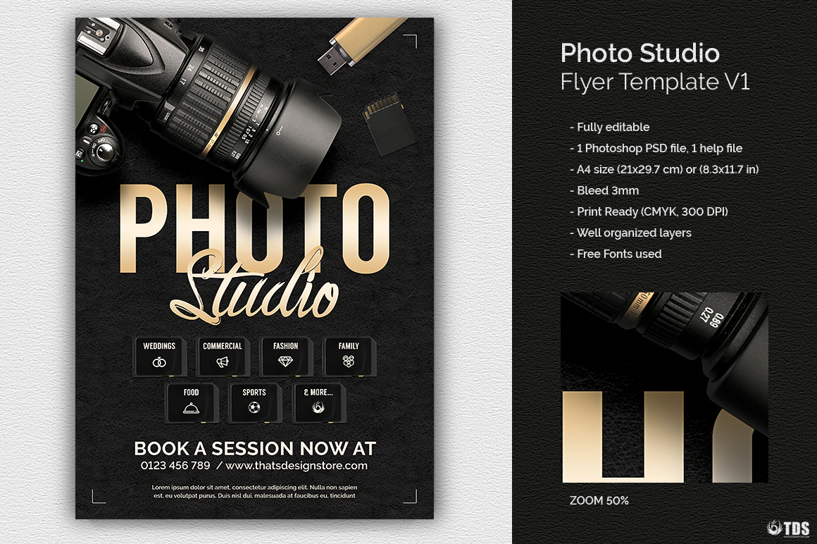 photo studio flyer template v1