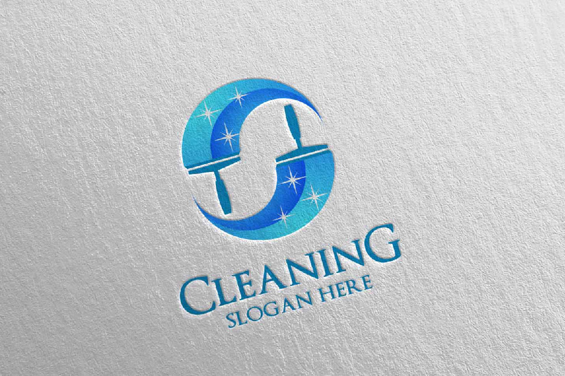 Cleaning Service Vector Logo Design example image 4