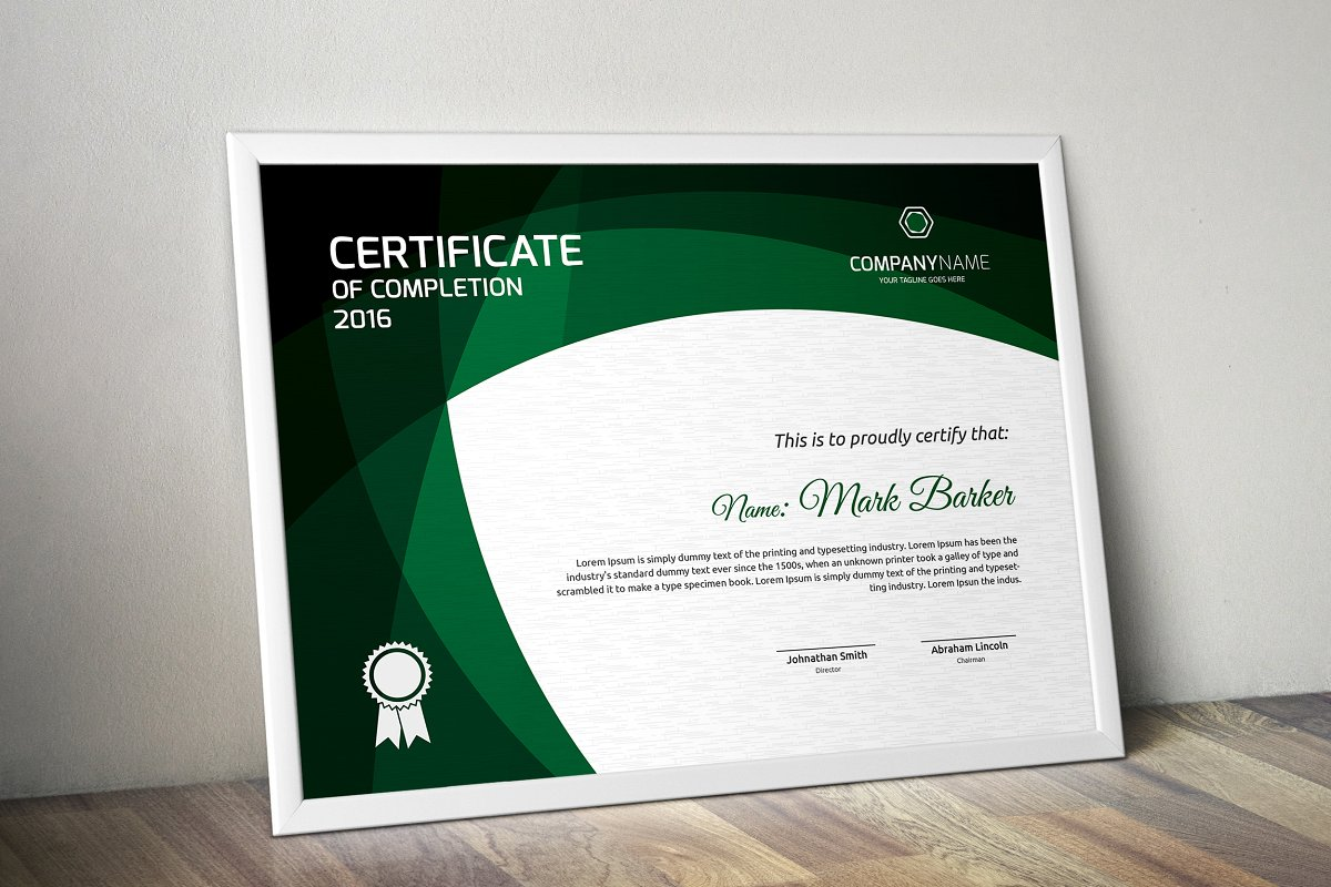 Certificate example image 5