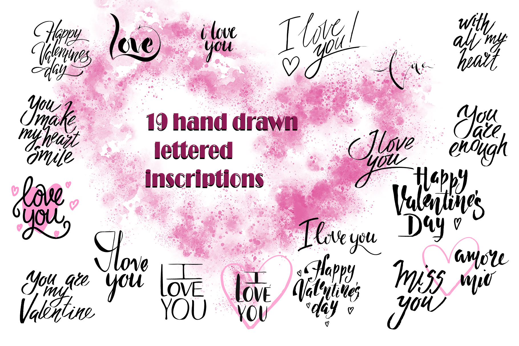 Valentine's Day handdrawn lettering example image 3