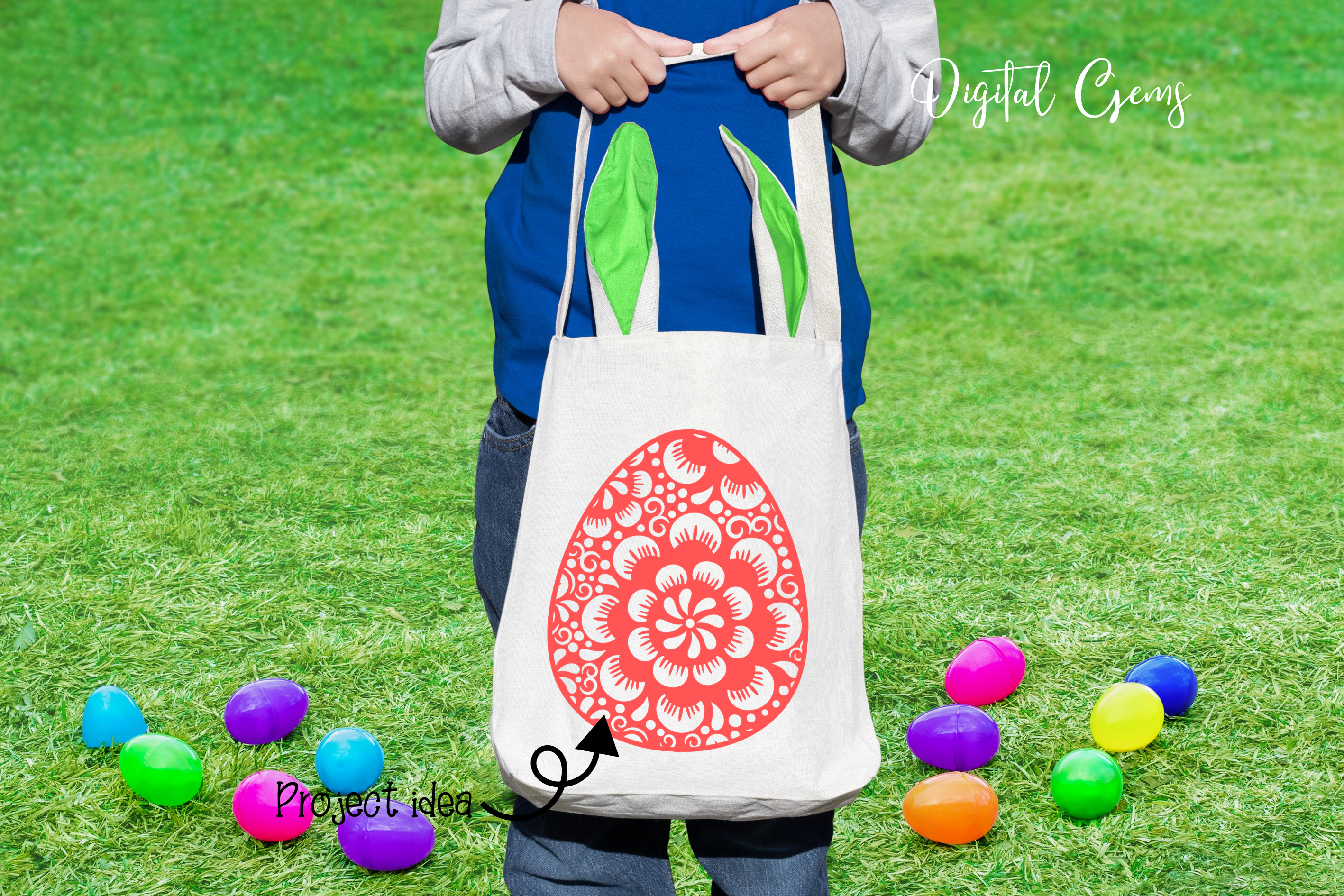 Easter Bundle SVG / DXF / EPS / PNG files example image 8