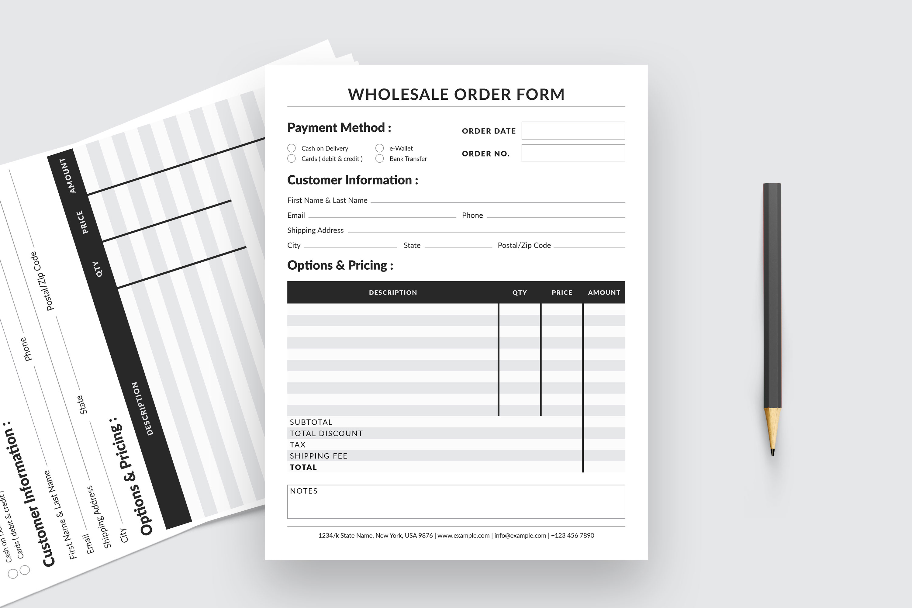 Editable Wholesale Order Form Template example image 5