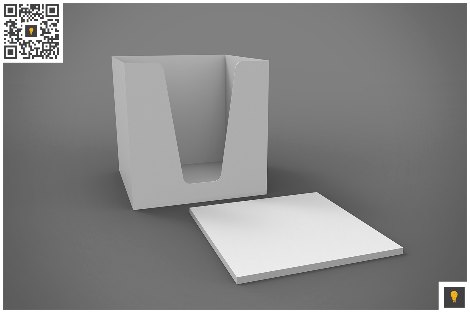 Notepad Holder & Notes 3D Render example image 2