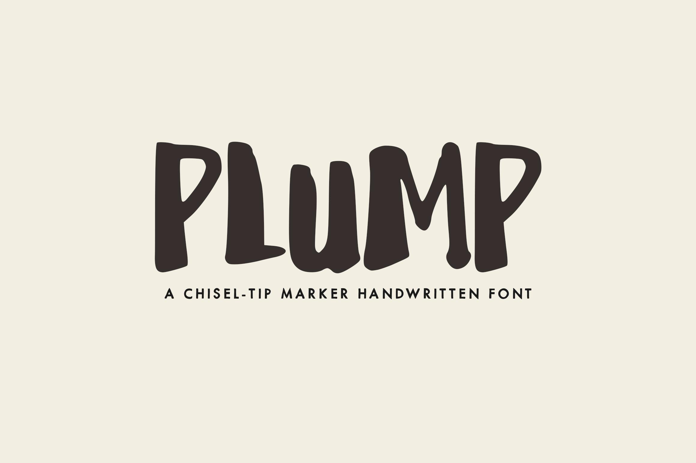 Plump - A Handwritten Font example image 1