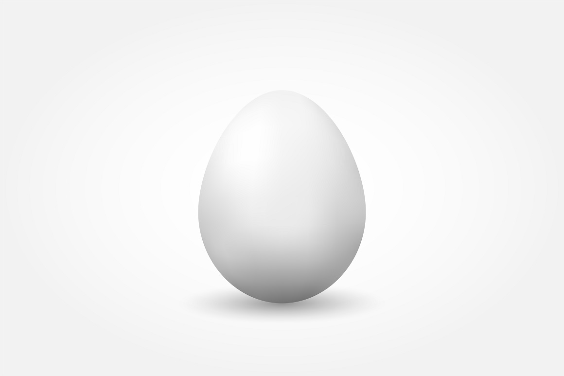 Vector realistic egg with shadow example image 1