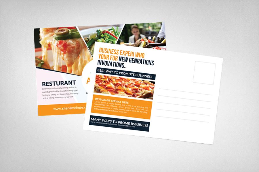Food & Pizza Restaurant Postcard example image 2