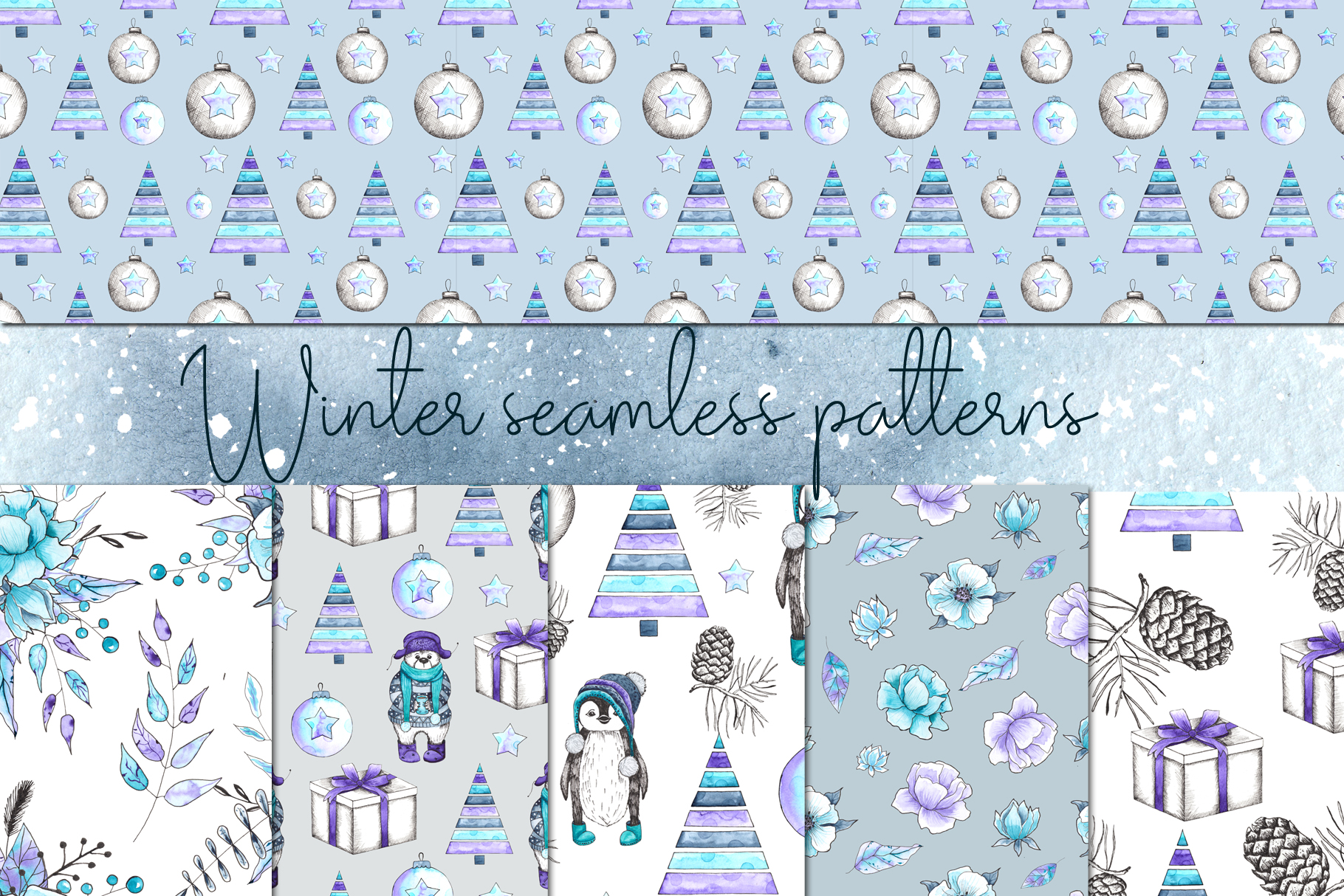 Let it snow. Winter collection example image 9