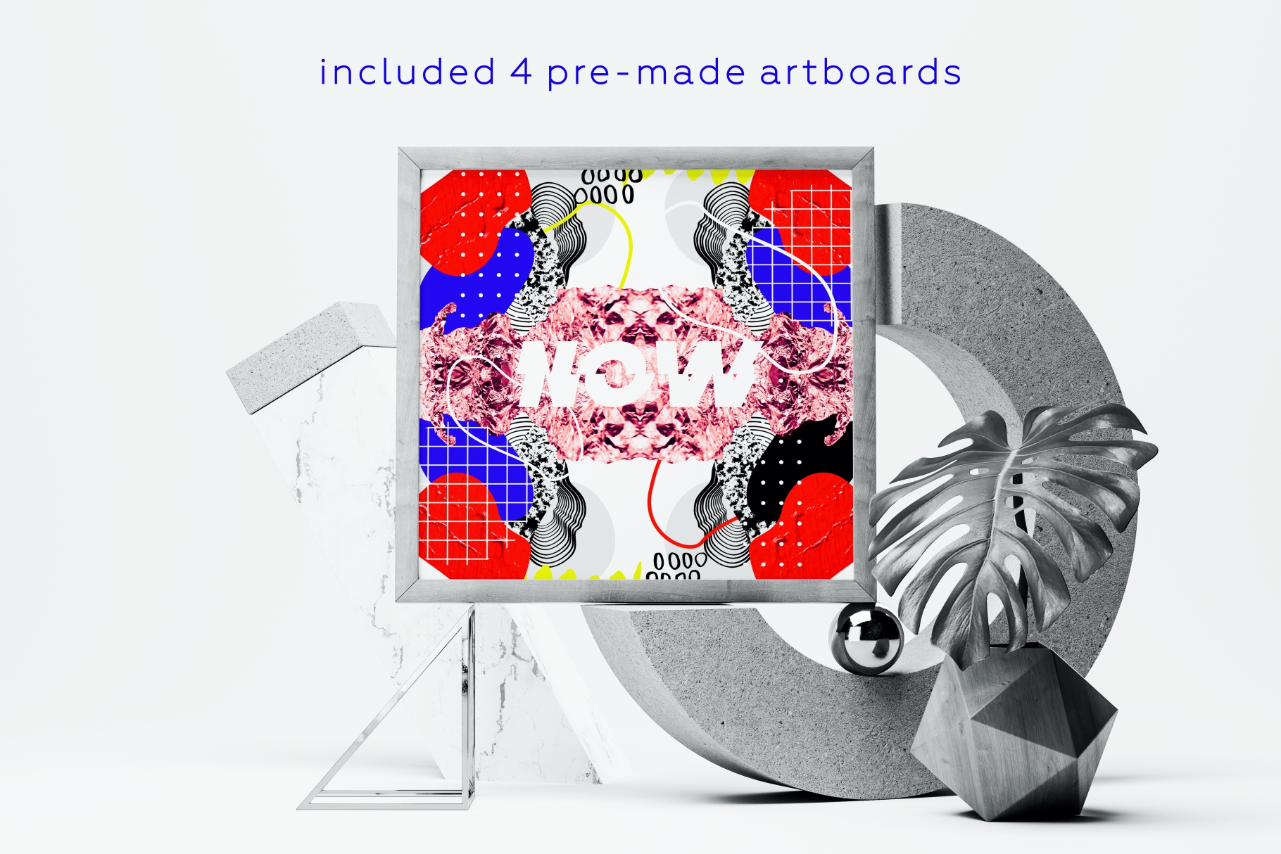 Collage me! Abstract and modern patterns and shapes set. example image 8