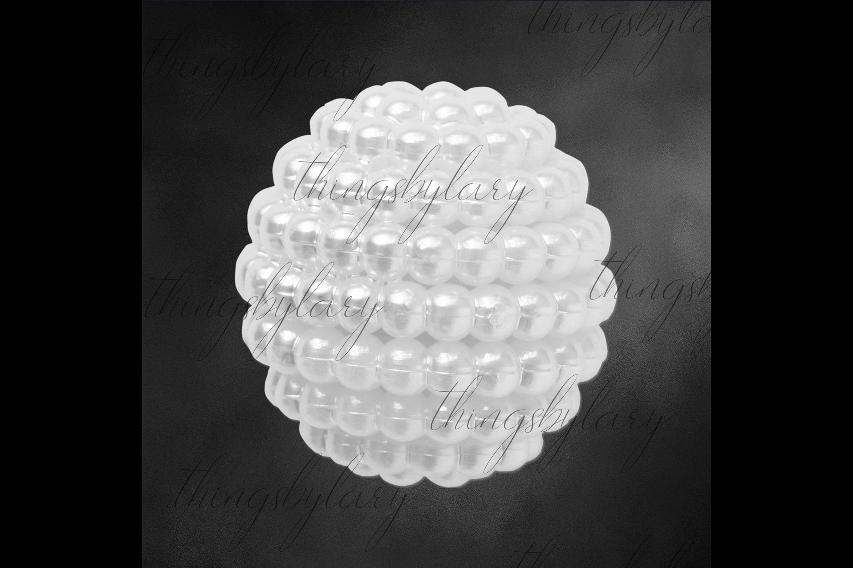 100 Pearl Pomander Digital Clip Art Jewelry Pearl Ball Image example image 5