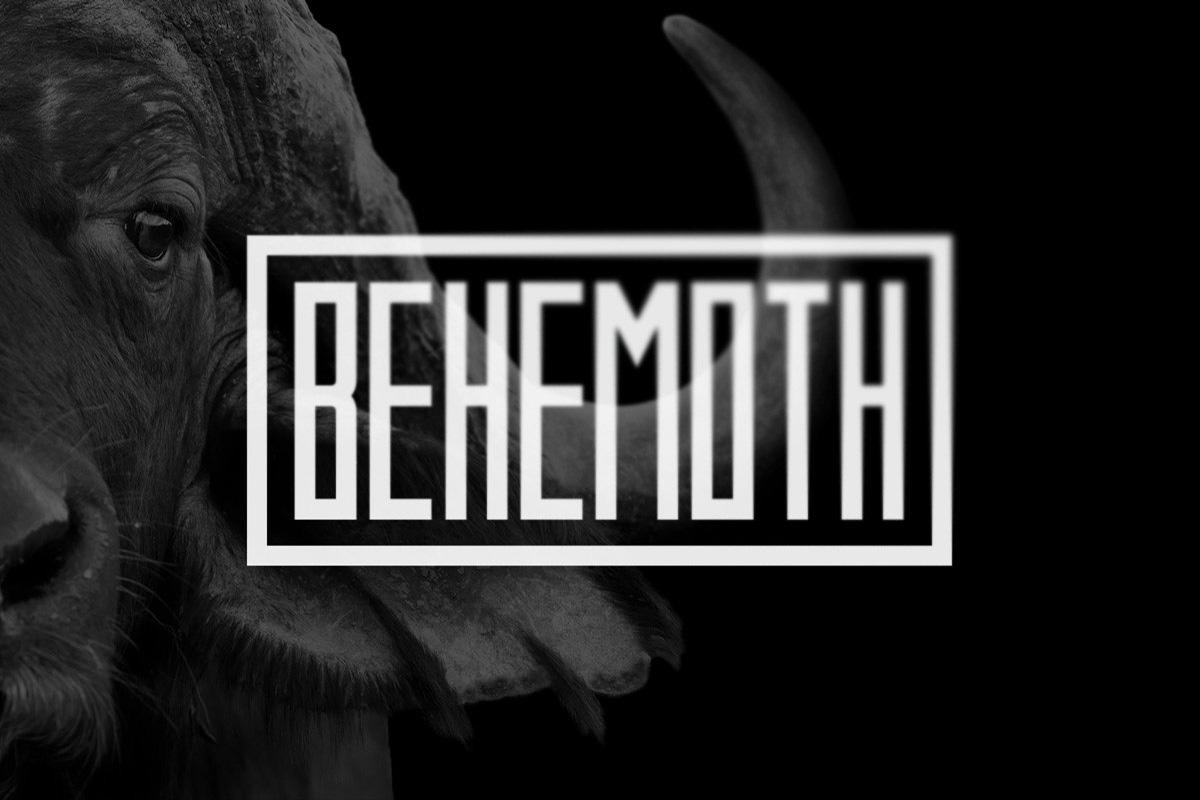 Behemoth Typeface example image 1
