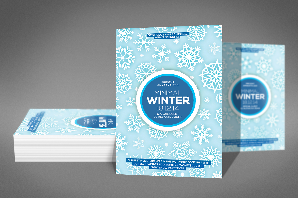 Minimal Winter Party Flyer example image 2