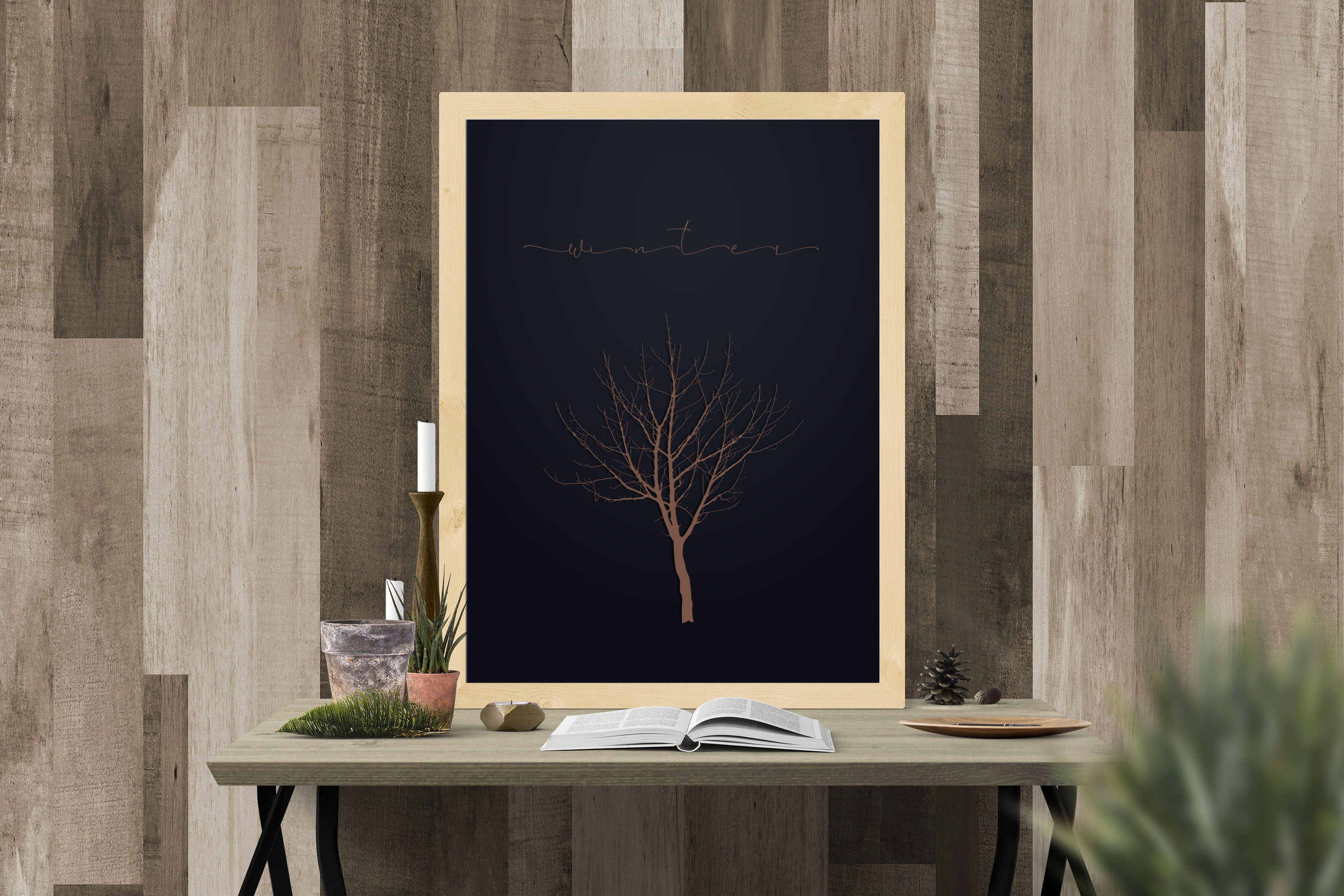 256 Winter Tree Branch Silhouette Wedding PNG Digital Images example image 6