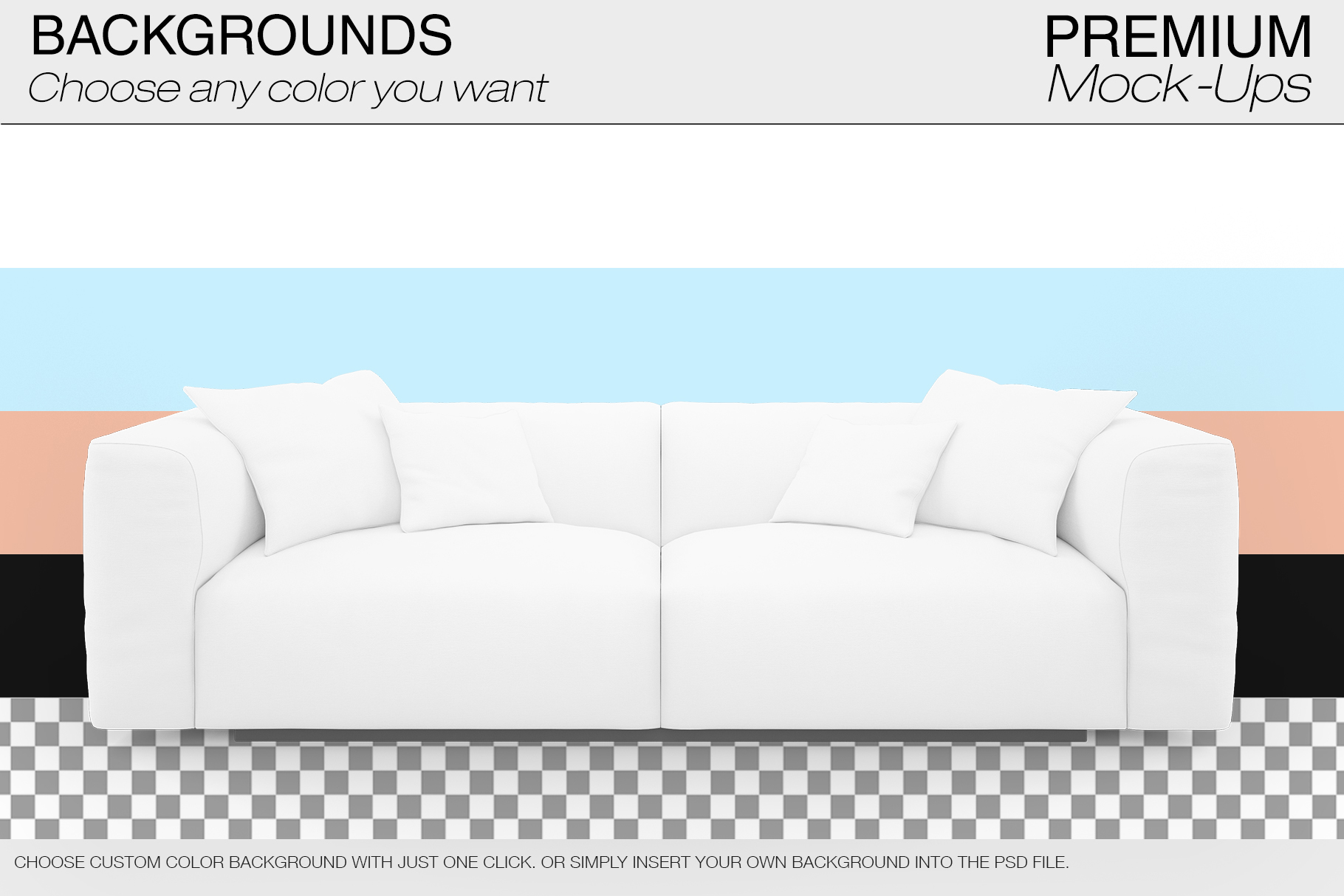 Sofa & Pillows Mockup Pack example image 8