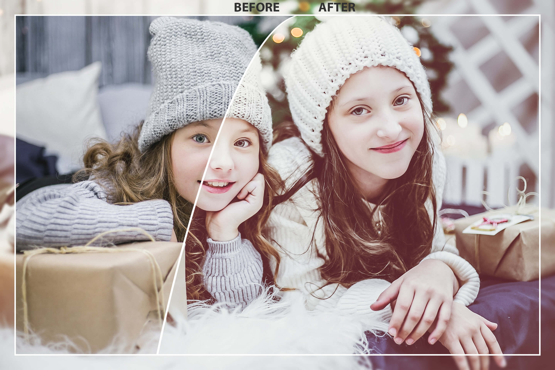 62 Christmas Mobile Lightroom Presets, X-mas Adobe LR preset example image 2