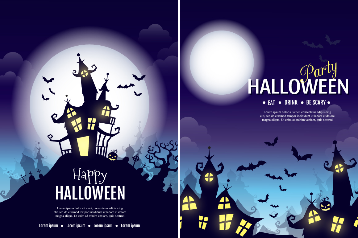 Halloween vector posters example image 2