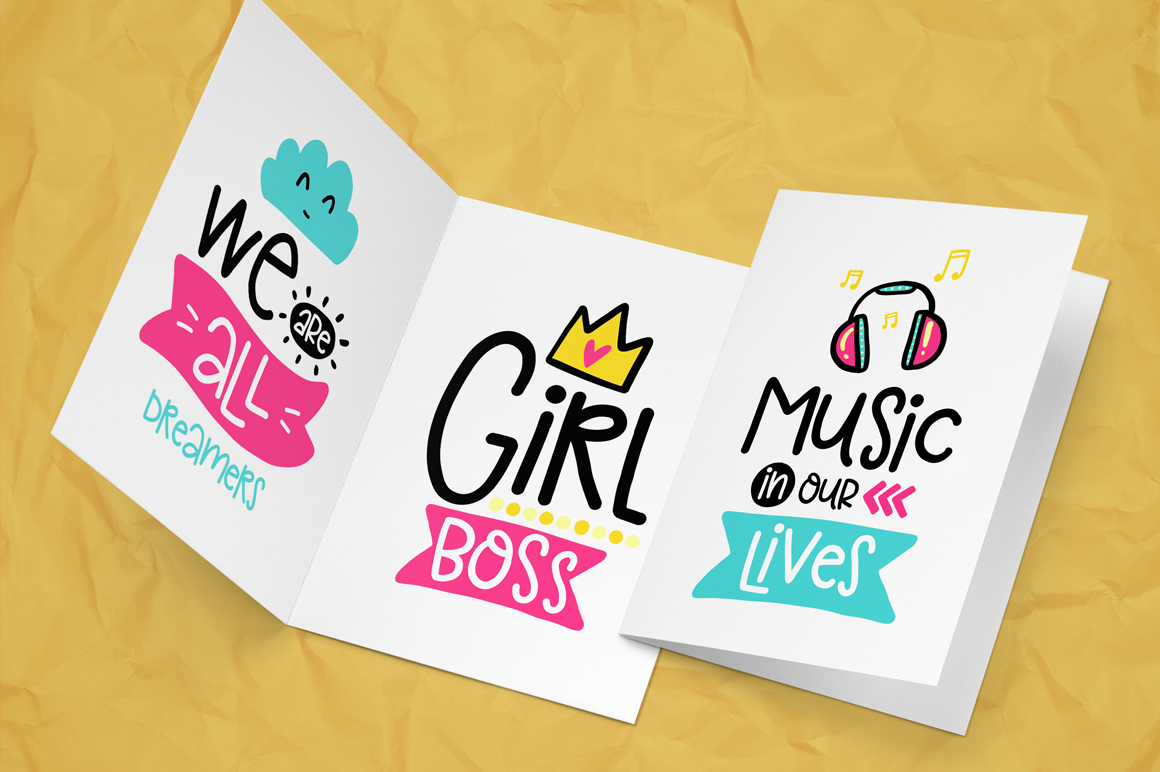 30 Funny Lettering Cards Collection example image 5