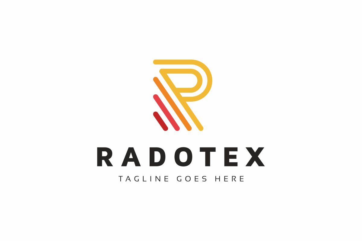 Radotex R Letter Logo example image 1