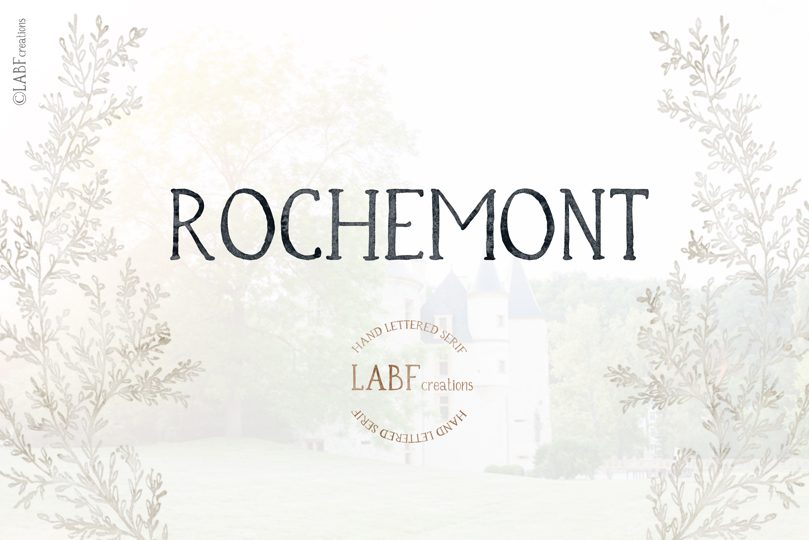 Rochemont. Classic and rustic Hand lettered serif font example image 1