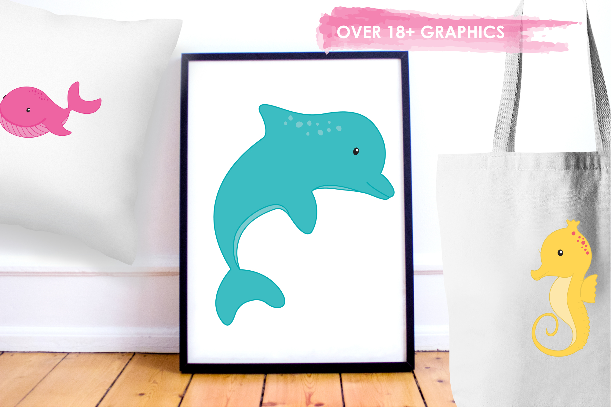 Sea Creatures Girls graphics and illustrations example image 5
