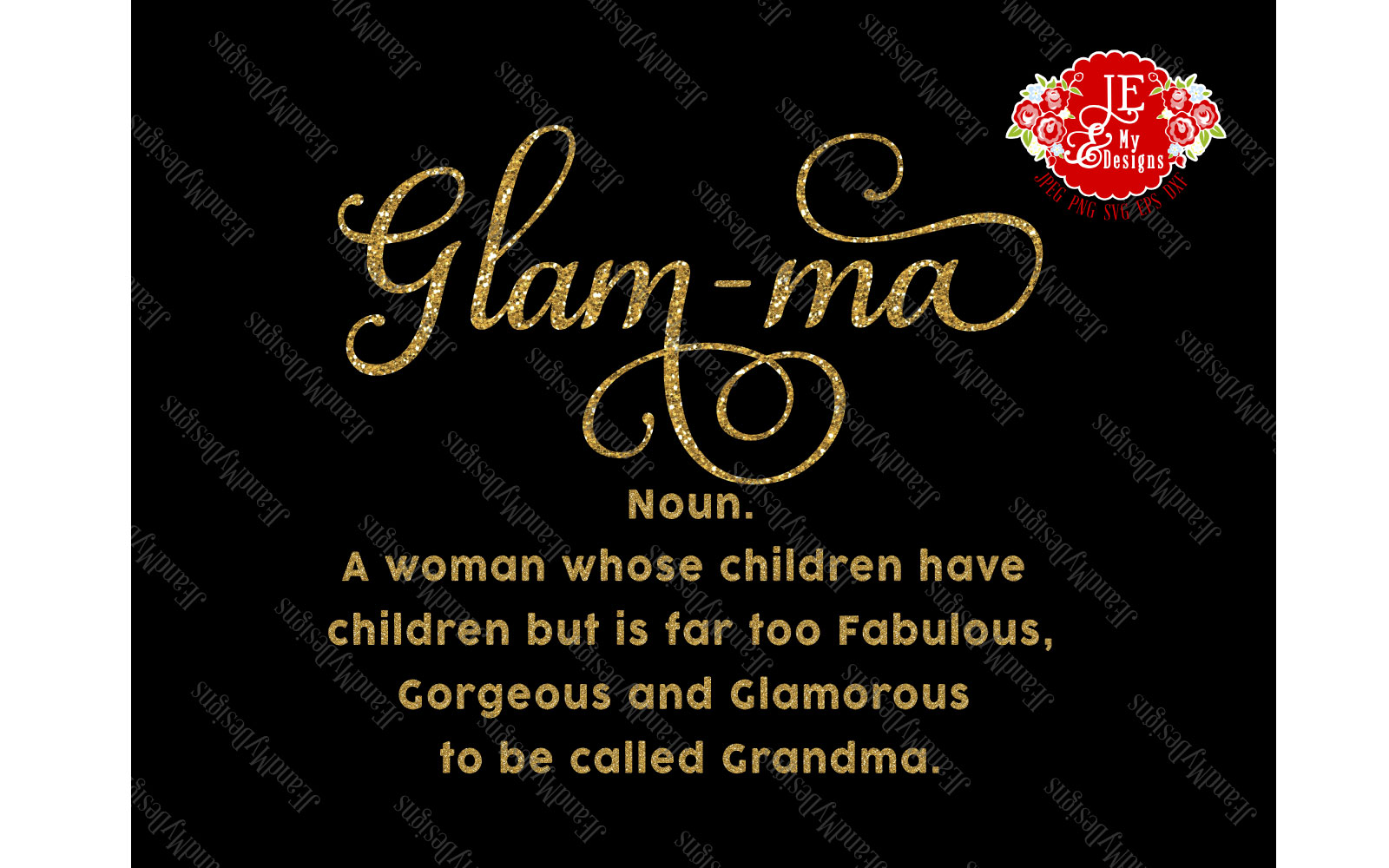 Glam-ma SVG, JPEG, PNG, EPS, DXF example image 5