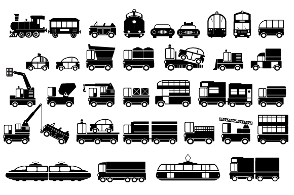 Set of vector cars example image 2