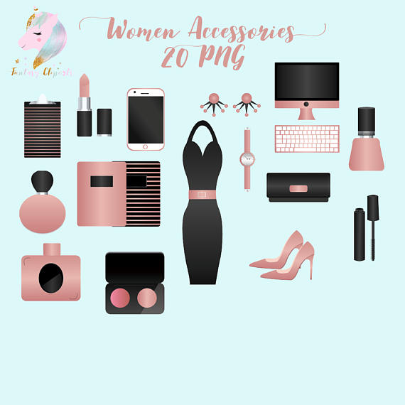 Woman Accessories Clipart example image 1