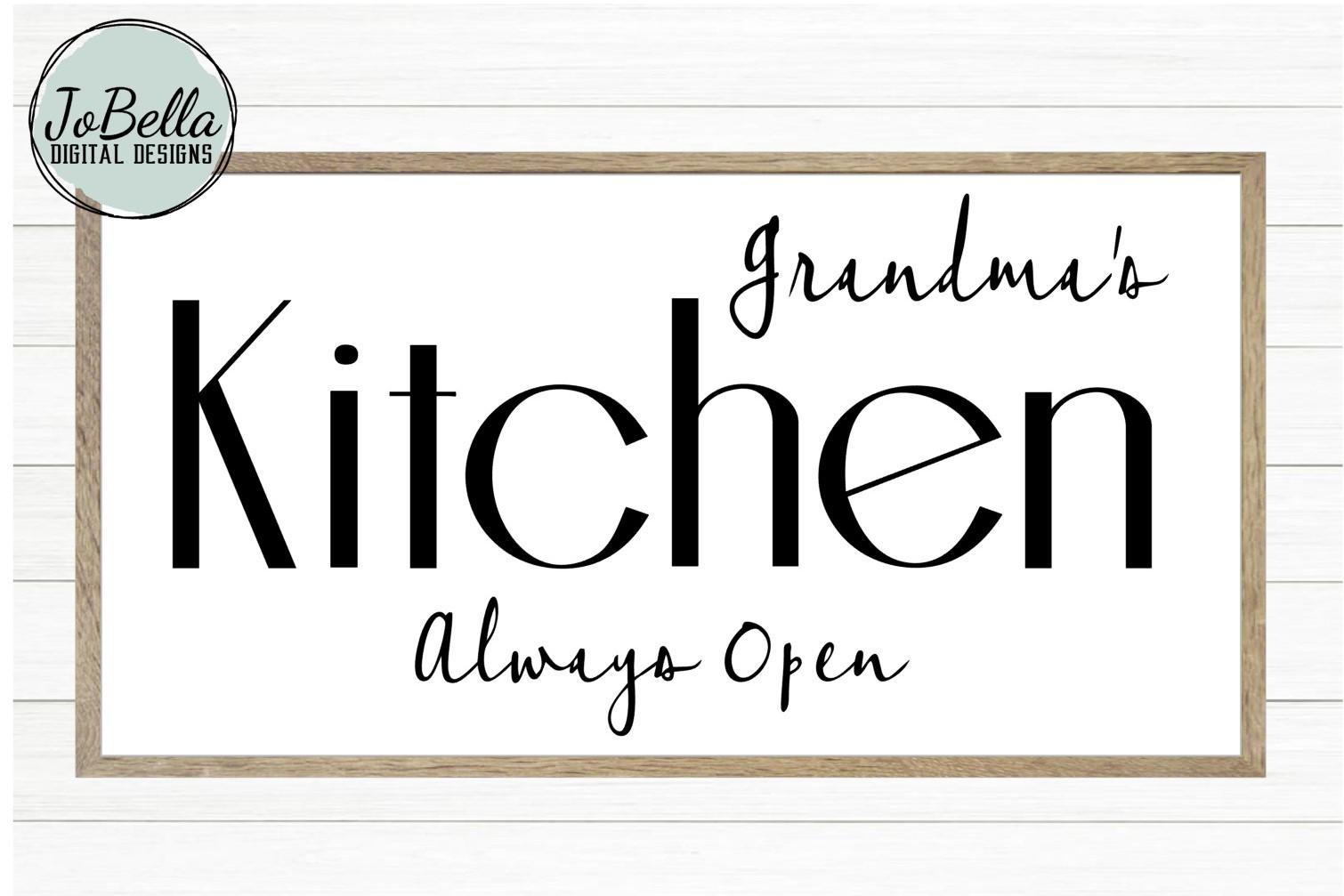 Grandmas Kitchen SVG and Printable Farmhouse Design example image 1