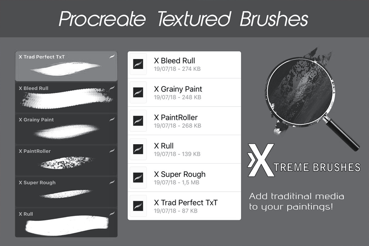 Procreate Texture Brushes example image 2