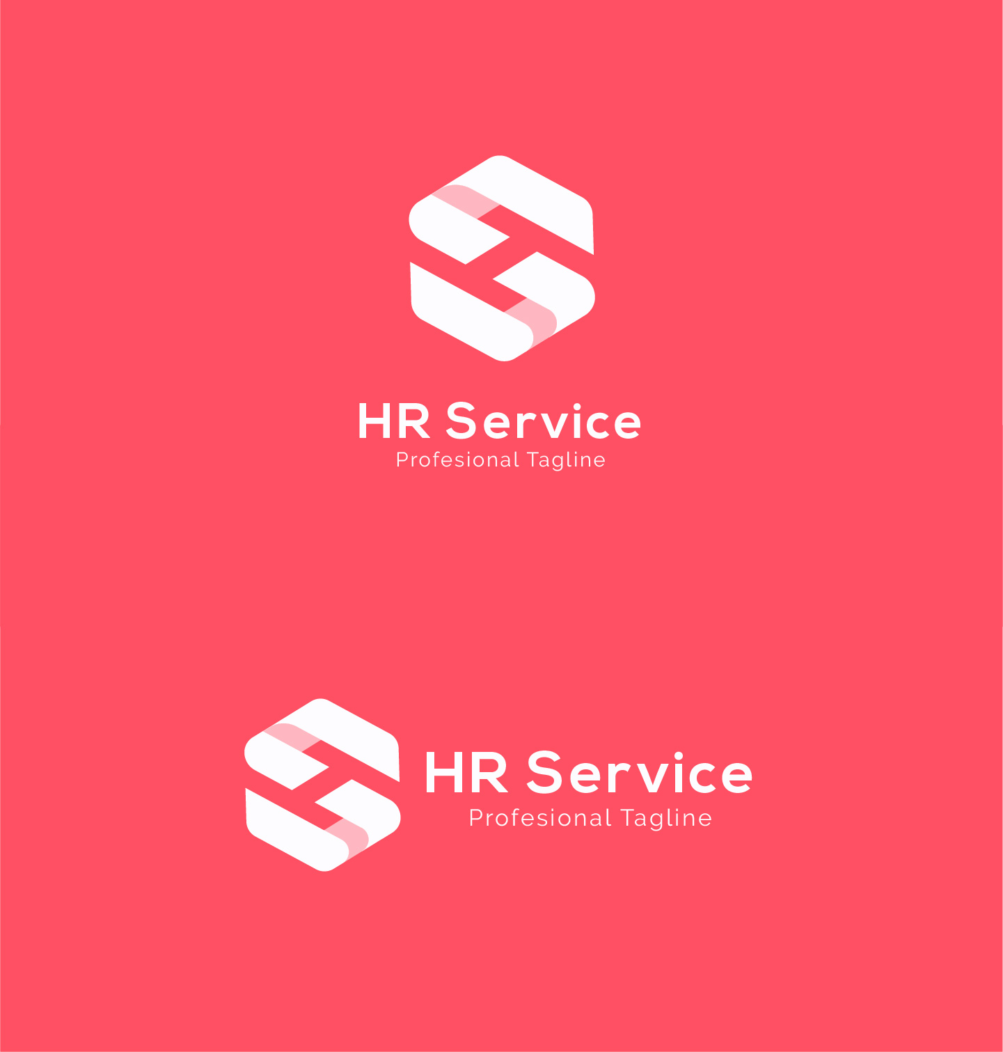 HR Service - H S Letter Logo example image 4