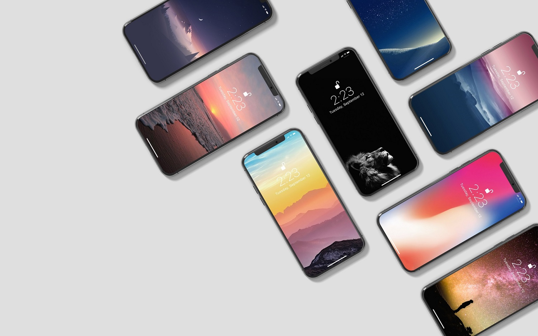 Isometric iPhone X Mockup example image 8