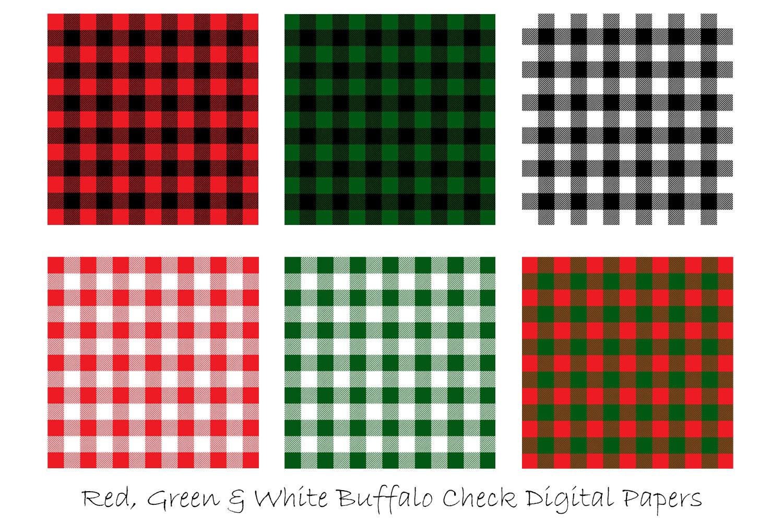 Christmas Plaid Digital Papers - Christmas Buffalo Check example image 2