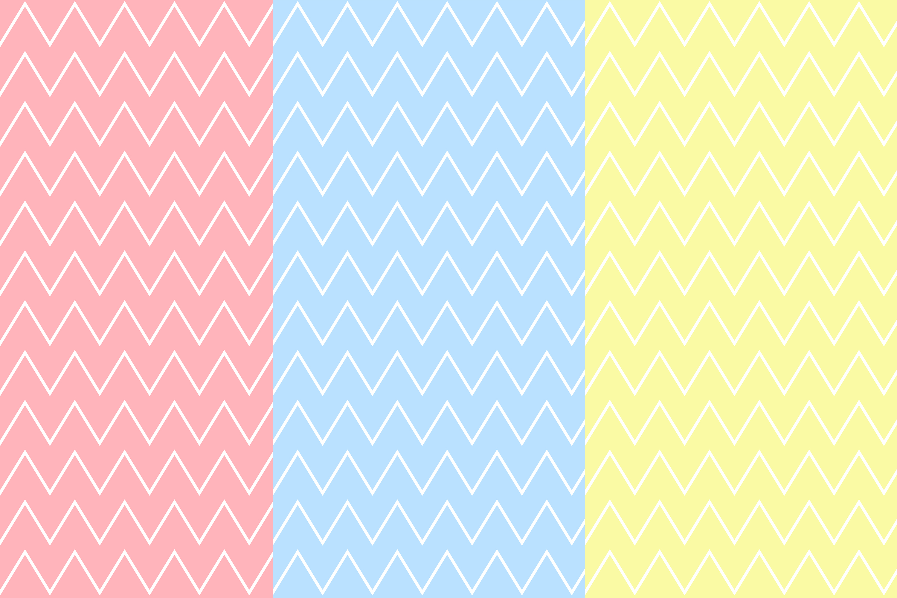 Chevron Seamless Pattern, Pastel chevron Digital Paper example image 2