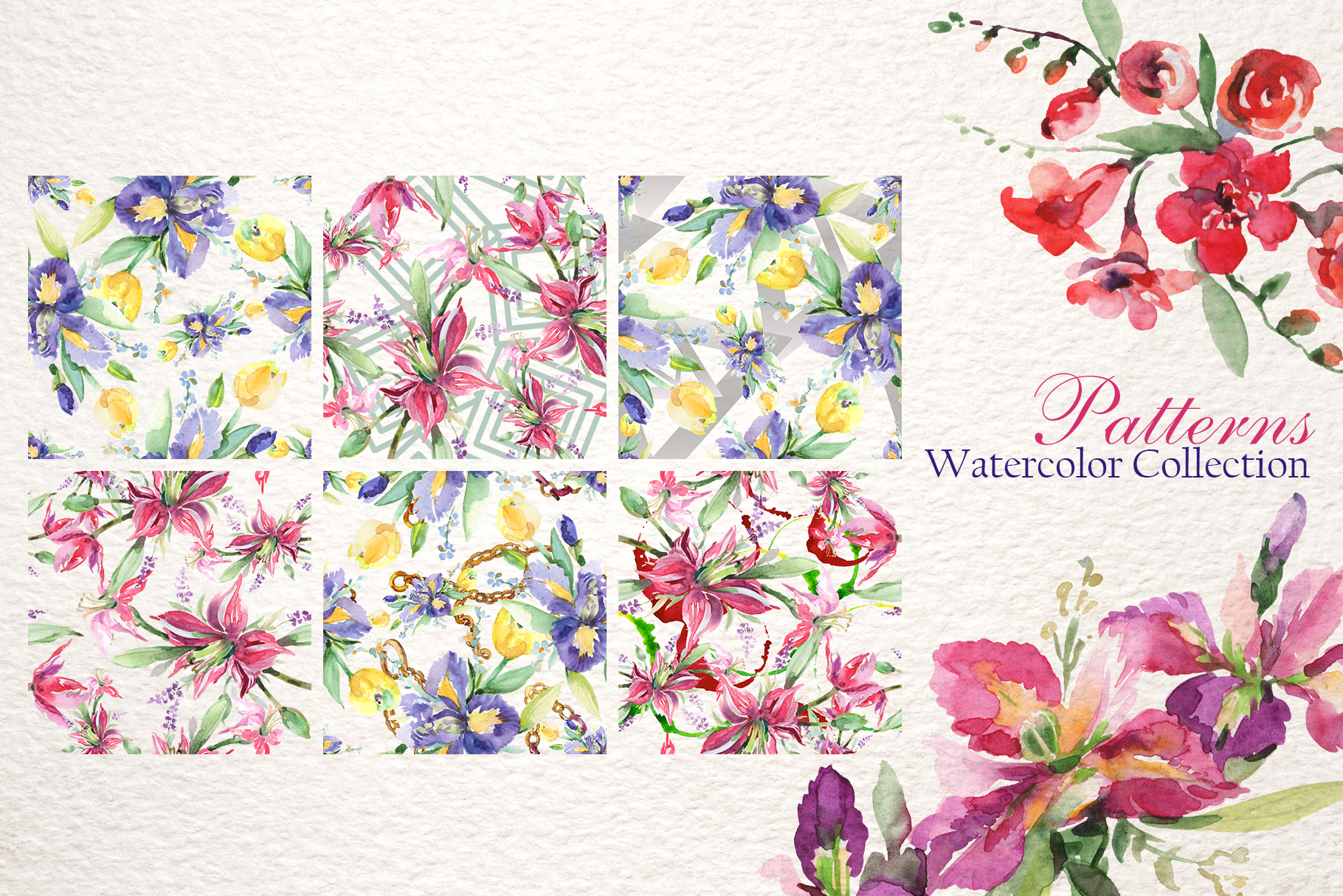 Gentle Bouquets Watercolor png example image 3