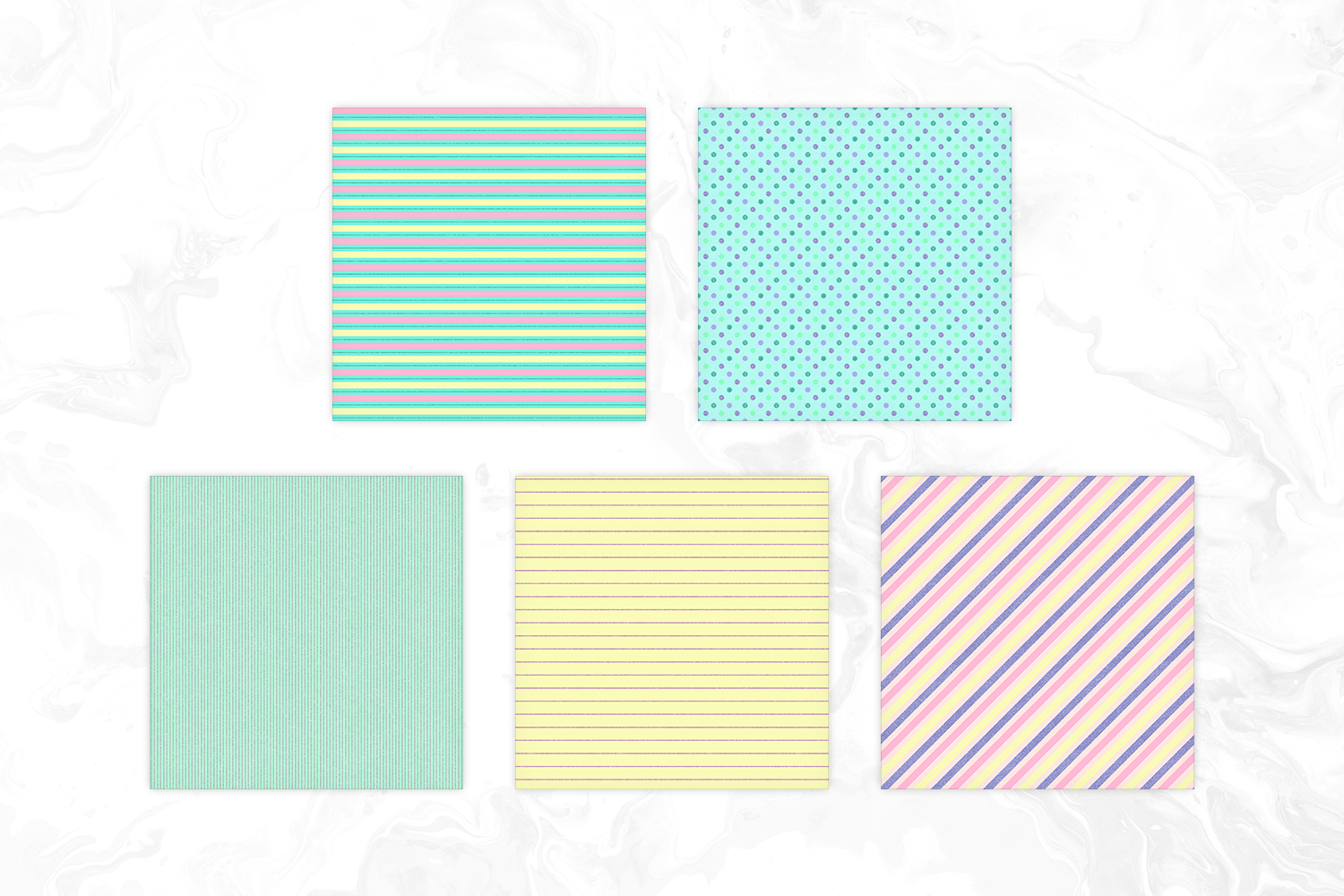 Cute Pastel Colors Tileable Geomteric Digital Paper example image 2