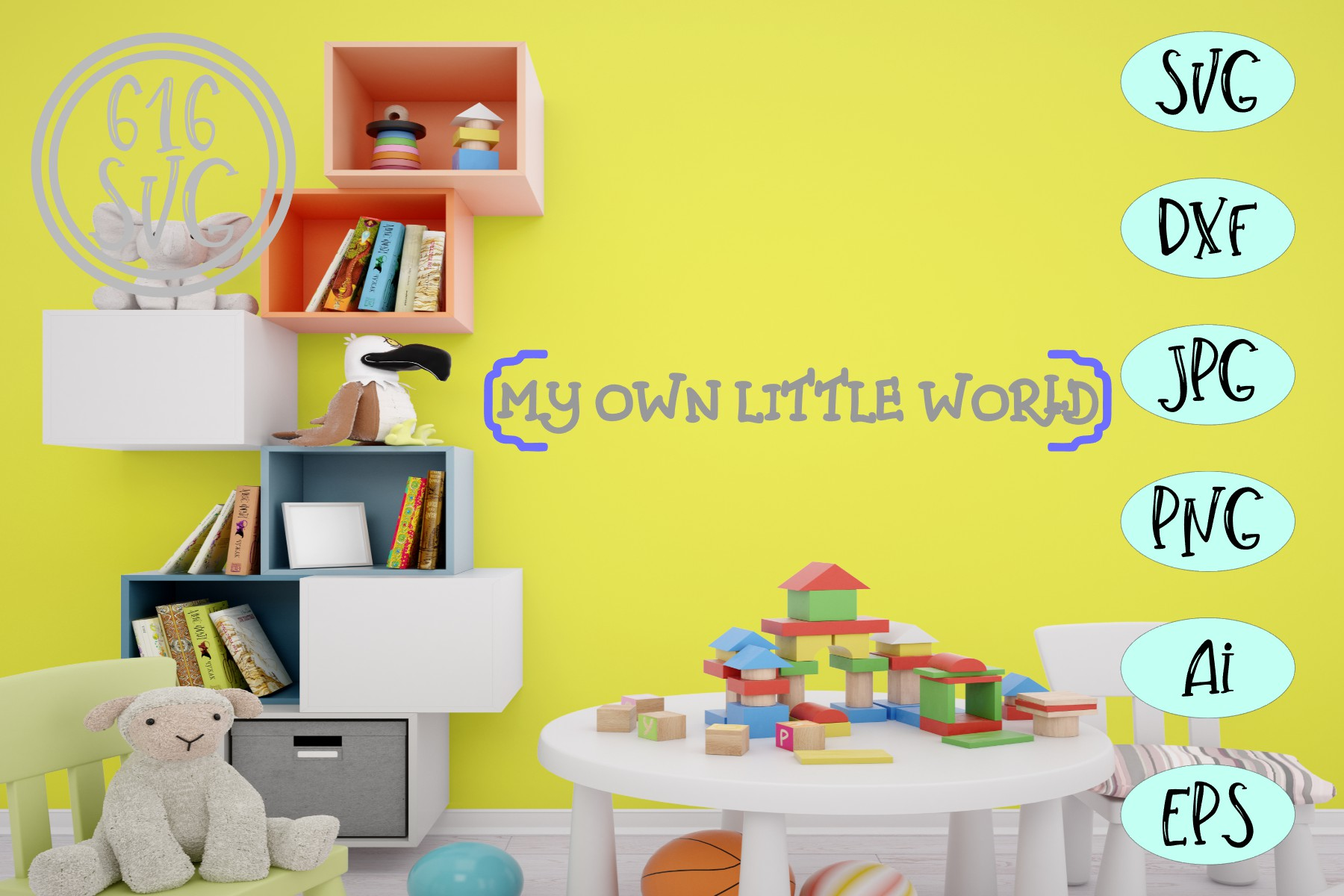 My own little world SVG example image 1