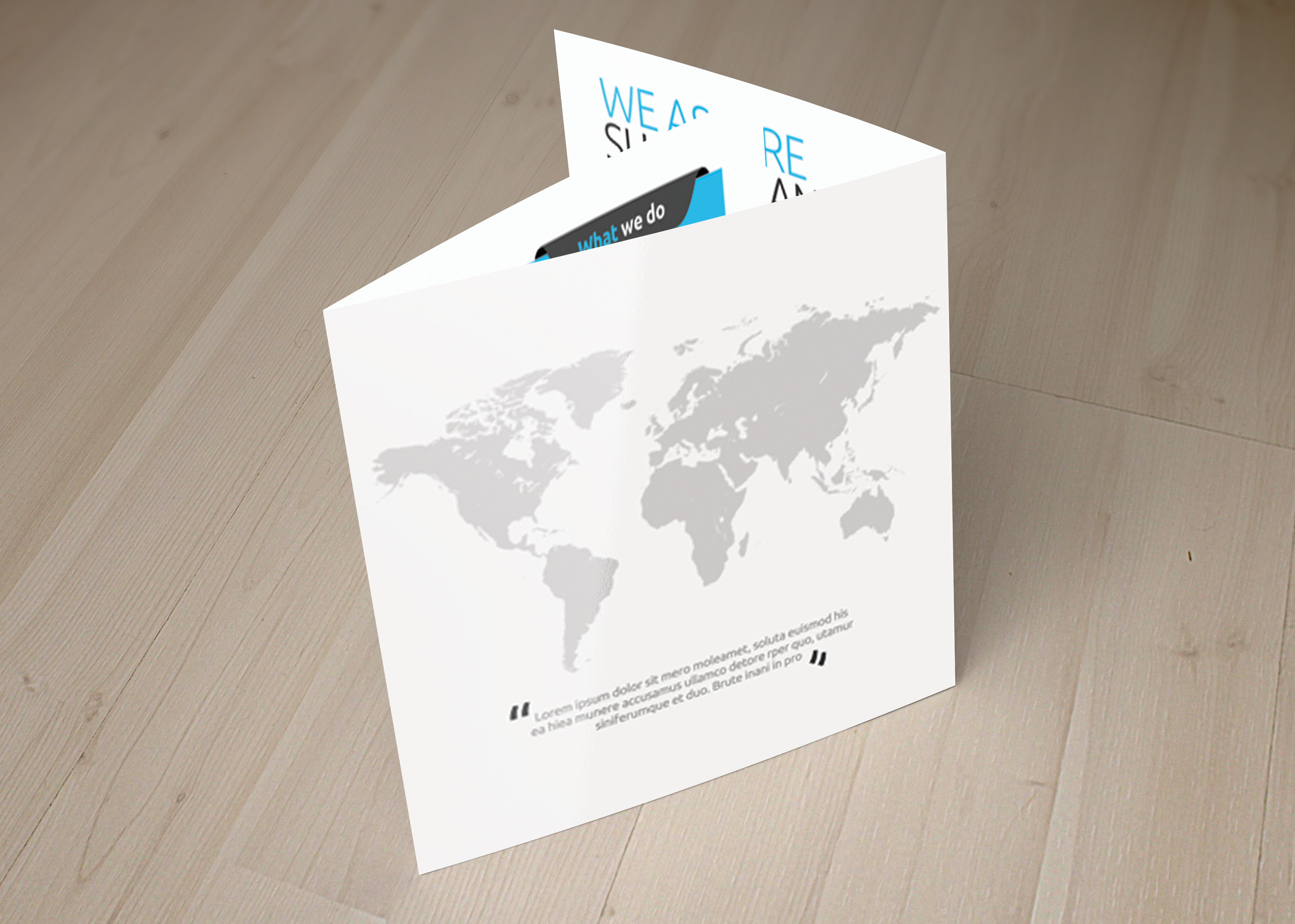 Multi Use Business Squre Trifold Brochure example image 2