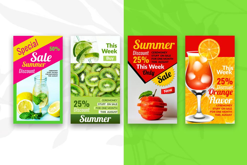 4 Instagram Stories - Summer Juice example image 4