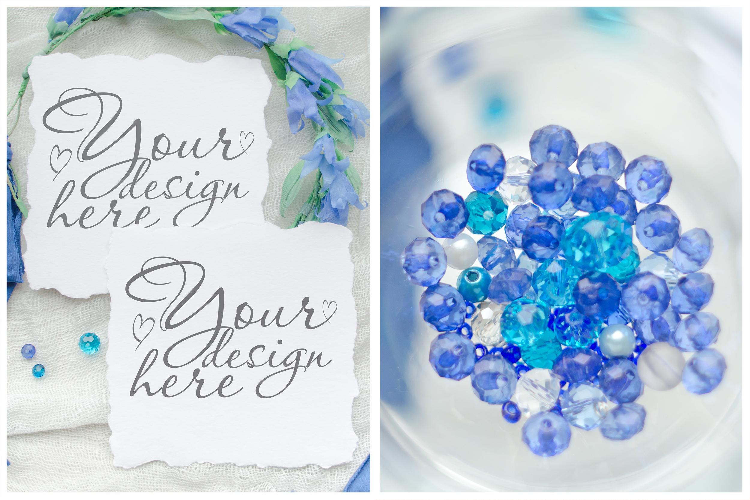 Something blue. Wedding mockups & stock photo bundle example image 10